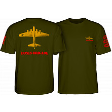 Bones Brigade Bomber T-shirt Military Green