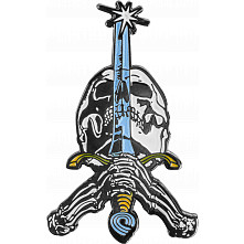 Powell Peralta Skull and Sword Lapel Pin