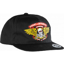Powell Peralta Winged Ripper Patch Snapback Cap Black