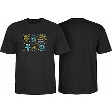 BONES WHEELS Earth Rollers T-shirt Black