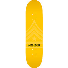 Mini Logo Quartermaster Deck 124 Yellow - 7.5 x 31.375