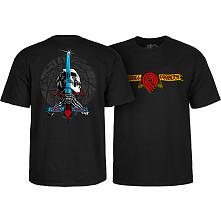 Powell Peralta Triple P Skull and Sword T-shirt Black