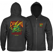Powell Peralta Cab Street Hooded Zip Sweatshirt - Black