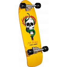 Powell Peralta McGill Skull and Snake Custom Complete Skateboard Yellow - 10 x 31.125
