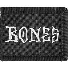 BONES WHEELS Lil Homie Wallet Black Canvas