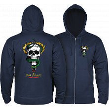 Powell Peralta McGill Skull and Snake Hooded Zip Sweatshirt - Navy