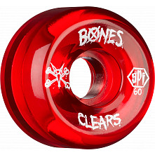 BONES SPF Clear red 60x34 P5 Skateboard Wheel 84B 4pk