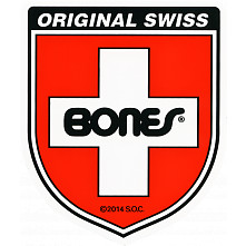 Bones Swiss Bearing Shield Sticker Medium 20pk