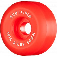 "Mini Logo Skateboard Wheels A-cut ""2"" 54mm 101A Red 4pk"