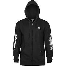 BONES WHEELS Shred Zip Sweatshirt Black