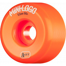 Mini Logo Skateboard Wheels A-cut 53mm 90A Orange 4pk