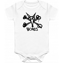 BONES WHEELS Vato Stacked Onesie White