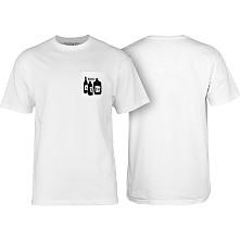 BONES WHEELS Speak Easy T-shirt w/ Pocket White