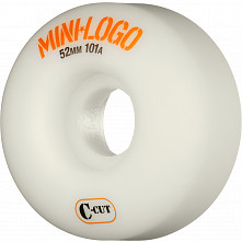 Mini Logo Skateboard Wheels C-cut 52mm 101A White 4pk