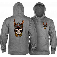 Powell Peralta Andy Anderson Skull Hooded Sweatshirt Mid Weight Gunmetal Heather