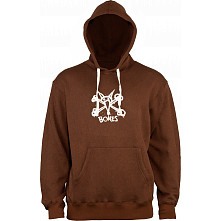 BONES WHEELS Vato Op Hooded Sweatshirt Brown