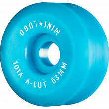 "Mini Logo Skateboard Wheels A-cut ""2"" 53mm 101A Blue 4pk"