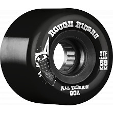 BONES WHEELS Rough Riders Black 59mm 4pk