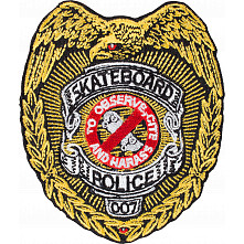 Powell Peralta Skateboard Police Patch Single