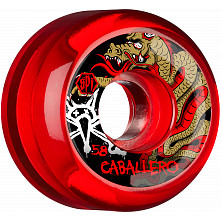 BONES WHEELS Caballero Dragon Wheel SPF Clear Red 58mm 4pk