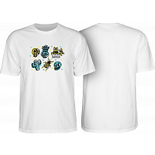 BONES WHEELS Earth Rollers T-shirt White