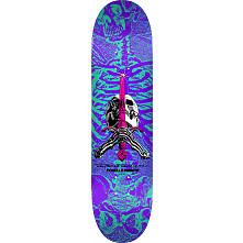 Powell Peralta Skull and Sword Skateboard Deck Turquoise/Purple - Shape 248 - 8.25 x 31.95