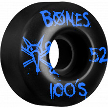 BONES WHEELS 100's 52mm Black(4pack)