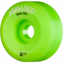 Mini Logo Skateboard Wheels A-cut 56mm 101A Green 4pk