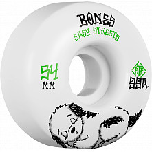 BONES WHEELS STF Rest Easy Skateboard Wheels 54mm 99a Easy Streets Fatties 4pk White