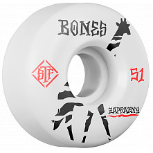 BONES WHEELS Pro STF Zaprazny Giraffe 51mm V2 Skateboard Wheel Locks 4pk White