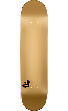 Mini Logo Chevron Skateboard Deck 124 Gold - 7.5 x 31.375
