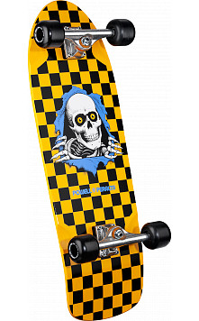 Powell Peralta Checkered Ripper Custom Complete Skateboard Yellow - 10 x 31.125