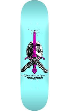 Powell Peralta Skull and Sword Skateboard Deck Pastel Blue - 9 x 32.95