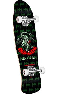 Powell Peralta Mini Caballero Dragon Complete Skateboard Black - 8 x 29.5