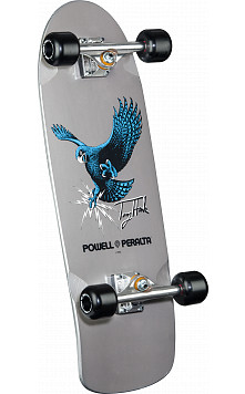 Bones Brigade Hawk Series 7 Skateboard Complete Silver- 9.56 x 29.63