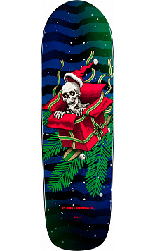 Powell Peralta Holiday Skateboard Deck 2015 Blue/Green Blem - 9.5 x 32.75