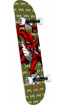 Powell Peralta Cab Dragon One Off Olive Complete Skateboard - 7.5 x 28.65