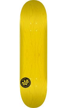 "MINI LOGO CHEVRON STAMP ""12"" SKATEBOARD DECK 250 YELLOW - 8.75 X 33"