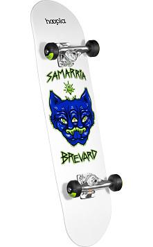 hoopla Samarria Brevard Panther Complete Skateboard White - 7.75 x 31.75