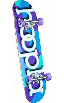 hoopla Purple Camo Complete Skateboard - 7.5 x 28.65