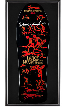 Bones Brigade® Shadowbox Lance Mountain BLEM Skateboard Deck Signed by Mountain