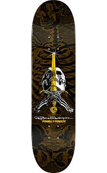 Powell Peralta Skull and Sword Skateboard Deck Brown - Shape 246 - 9.05 x 32.095