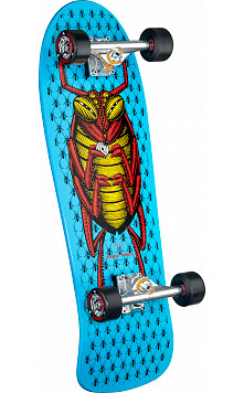 "Powell Peralta Bug Custom Complete Skateboard Blue - 9.85"" x 28.6"""