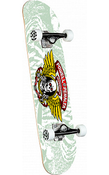 Powell Peralta Mini Winged Ripper White Complete Skateboard - 8 x 31.45