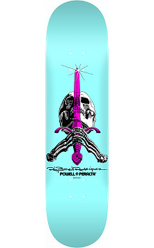Powell Peralta Skull and Sword Skateboard Deck Pastel Blue 242 K20 - 8 x 31.45
