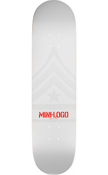 Mini Logo Quartermaster Deck 191 White - 7.5 x 28.65