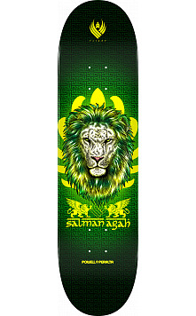 Powell Peralta Pro Salman Agah Lion Flight® Skateboard Deck - Shape 242 - 8 x 31.45
