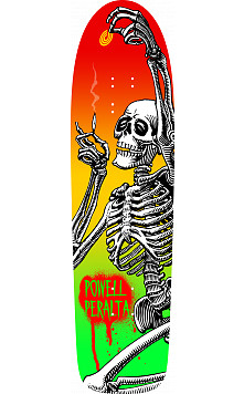 Powell Peralta Funshape Hippie Skeleton 2 Skateboard Deck - 8.6 x 31.66