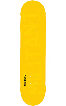 Mini Logo Militant Deck 124 Yellow - 7.5 x 31.375