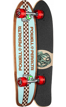 Powell Peralta Sidewalk Surfer Retro Checker Sakteboard Cruiser Assembly - 7.75 x 27.20 WB 14.0